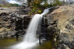 Free Kumbakarai Waterfalls - The Pambar River Stock Photo - 194748320
