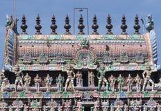 The Kumbam on top of the Kumbeswarar temple Gopuram. Stock Photo