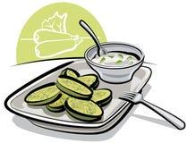 kumberlandu smażący zucchini Zdjęcia Royalty Free