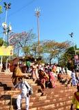 Kumbh de Simhasth Maha, peregrinaje hindú total, muchedumbre en el banco del kshipra, Ujjain, la India Foto de archivo libre de regalías