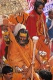 印度kumbh mela 库存照片