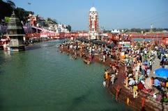 Kumbh Mela in Haridwar Stockfotografie