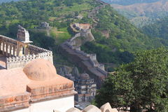 Kumbhalgar fort. This fort was built by maharana kumbha in 1458. it has a large wall around it, which is the second largest wall after chinas wall. maharana Stock Images