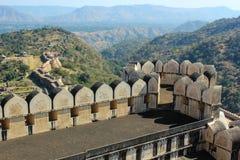 kumbhalgarh Индии форта Стоковые Фото