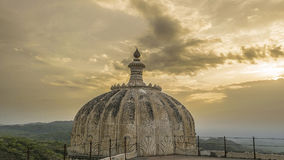 Kumbhalgarh Fort Dome and View of Mountains. Kumbhalgarh, Rajasthan, India Stock Photography