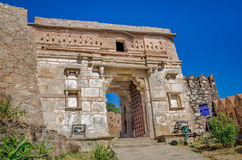 Kumbhalgarh Fort entrance Rajasthan, one of the biggest fort in India Stock Photos