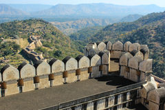 Kumbhalgarh Fort Indien Stockfotos