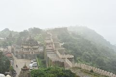 Kumbhalgarh fort and monuments , Rajasthan. Kumbhalgarh fort, monuments and ruins, Rajasthan, India Stock Images