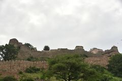 Kumbhalgarh fort and monuments , Rajasthan. Kumbhalgarh fort, monuments and ruins, Rajasthan, India Royalty Free Stock Photography