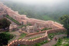 Kumbhalgarh Fort in Udaipur. Walls surrounding Kumbhalgarh Fort in Udaipur, India Royalty Free Stock Photos