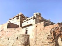 Kumbhalgarh-Fort, Rajasthan die UNESCO-Welterbestätte lizenzfreies stockfoto