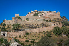 Kumbhalgarh Fort in Rajasthan, one of the biggest fort in India Stock Image