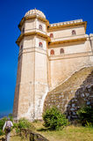 Kumbhalgarh Fort in Rajasthan, one of the biggest fort in India. Kumbhalgarh, Rajasthan, India - November 21 2016: Kumbhalgarh Fort is a Mewar fortress on the Stock Image