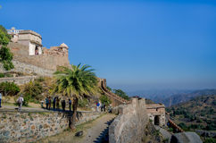 Kumbhalgarh Fort in Rajasthan, one of the biggest fort in India. Kumbhalgarh, Rajasthan, India - November 21 2016: Kumbhalgarh Fort is a Mewar fortress on the Stock Images