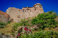 Kumbhalgarh Fort in Rajasthan, one of the biggest fort in India. Kumbhalgarh, Rajasthan, India - November 21 2016: Kumbhalgarh Fort is a Mewar fortress on the Royalty Free Stock Photography