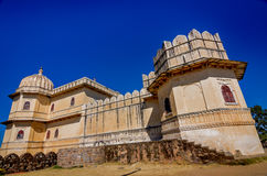 Kumbhalgarh Fort in Rajasthan, one of the biggest fort in India. Kumbhalgarh, Rajasthan, India - November 21 2016: Kumbhalgarh Fort is a Mewar fortress on the Stock Photo