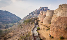 Kumbhalgarh Fort in Rajasthan. One of the biggest fort in India Stock Photography