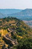 The Kumbhalgarh Fort, Udaipur, Rajasthan. Kumbhalgarh is a Mewar fortress on the westerly range of Aravalli Hills, in the Rajsamand district near Udaipur of Stock Image