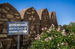 Kumbhalgarh fort w Rajasthan, jeden duży fort w India obraz stock