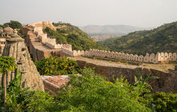 Kumbhalgarh fort wall Royalty Free Stock Images