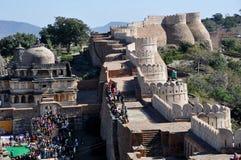 Kumbhalgarh forte indiano Fotografia Stock Libera da Diritti