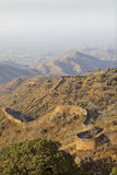 Kumbhalgarh fortification over the terrain Royalty Free Stock Images