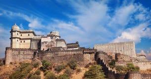 Kumbhalgarh fortu panorama Rajasthan, India Obraz Stock