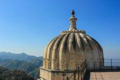 Kumbhalgarh kopuła i widok góry/dolina Fotografia Royalty Free
