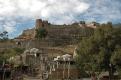 Kumbhalgarh Fort as seen from the entrance, India. Kumbhalgarh `Kumbhal fort` is a Mewar fortress on the westerly range of Aravalli Hills, in the Rajsamand Royalty Free Stock Photography