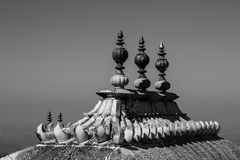 Kumbhalgarh monochrome shiv temple, Rajasthan, India. Royalty Free Stock Images