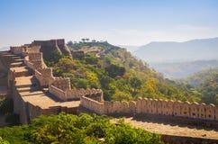 Kumbhalgarhfort in Rajasthan, één van het grootste fort in India Royalty-vrije Stock Fotografie