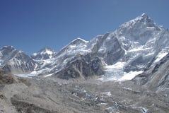 Kumbu Gletscher Stockfotografie