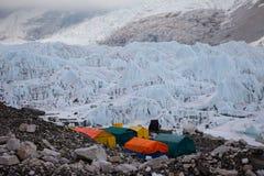 Kumbu ice fall Royalty Free Stock Image