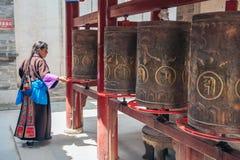 Kumbum kloster i det Qinghai landskapet, Kina fotografering för bildbyråer