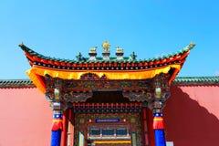 Kumbum Monastery , taersi,  in Qinghai , China. Kumbum Monastery  is  one of the six monasteries of the Gelug Sect of Tibetan Buddhism and  the highest Royalty Free Stock Image