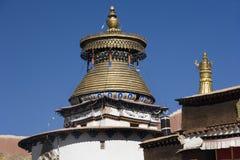 Kumbumen på den Palcho kloster - Tibet Arkivbilder