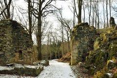 Kumburk - руины замка в зиме стоковое фото rf