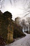 Kumburk - руины замка в зиме Стоковая Фотография