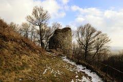 Kumburk - Castle Ruin in Winter. Bohemian Paradise in Czech republic Royalty Free Stock Images