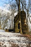 Kumburk - Castle Ruin in Winter. Bohemian Paradise in Czech republic Royalty Free Stock Photo