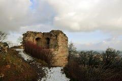 Kumburk - Castle Ruin in Winter. Bohemian Paradise in Czech republic Royalty Free Stock Image
