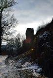 Kumburk - Castle Ruin in Winter. Bohemian Paradise in Czech republic Stock Photos