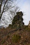 Kumburk - Grodowa ruina w zimie zdjęcia royalty free