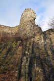 Kumburk - Kasteelruïne in de Winter Royalty-vrije Stock Foto