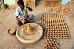 KUMHAAR, THE INDIAN POTTERY MAKER Royalty Free Stock Images