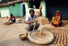 KUMHAAR, THE INDIAN POTTERY MAKER Royalty Free Stock Photography