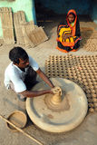 KUMHAAR, THE INDIAN POTTERY MAKER Royalty Free Stock Photos