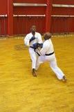 Kumite karate fight royalty free stock photography