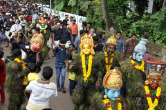 Kummatti Mahotsavam 2016年 免版税库存图片