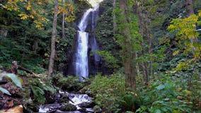 Kumoi no taki Falls in Oirase Stream in autumn sunny day